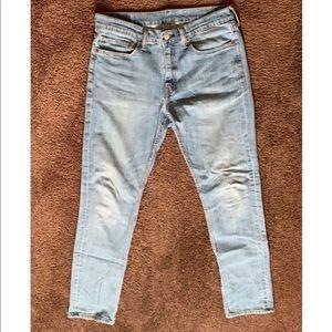 Levi's 511 light wash slim straight jeans. 34 x 34